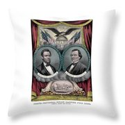 Lincoln And Johnson Election Banner 1864 Throw Pillow