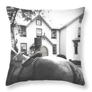 Lincoln Arrives At The Cottage Throw Pillow