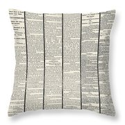 Lincoln Assassination, 1865 Throw Pillow