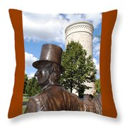 Lincoln At The Tower Throw Pillow