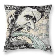 Lincoln Barfs Throw Pillow