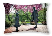 Lincoln-bedell Statue Westfield  Throw Pillow