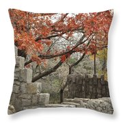 Lincoln Bridge In Fall Throw Pillow