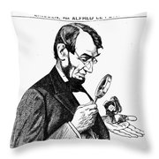 Lincoln Cartoon, 1873 Throw Pillow