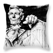 Lincoln Carved Throw Pillow