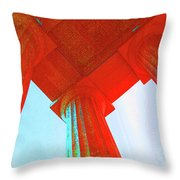 Lincoln Colomn Red Throw Pillow
