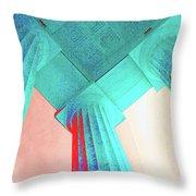 Lincoln Column Blue Throw Pillow