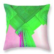 Lincoln Column Green Throw Pillow
