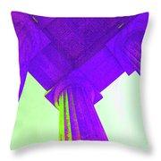 Lincoln Column Purple Throw Pillow