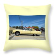 Lincoln Continental At Brint's Diner Throw Pillow
