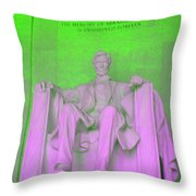 Lincoln In Green Throw Pillow