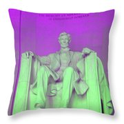 Lincoln In Purple Throw Pillow