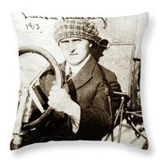 Lincoln J. Beachey March 3, 1887 March 14, 1915 Throw Pillow