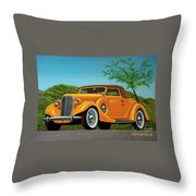 Lincoln K Convertible 1935 Painting Throw Pillow