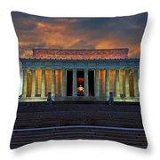 Lincoln Memorial At Dusk Throw Pillow
