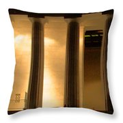 Lincoln Memorial By Night Throw Pillow
