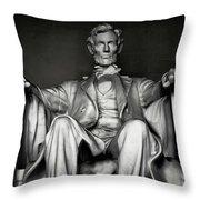 Lincoln Memorial Throw Pillow by Daniel Hagerman