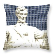 Lincoln Memorial - Dark Blue Throw Pillow