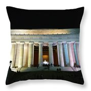 Lincoln Memorial - From Reflecting Pool Throw Pillow