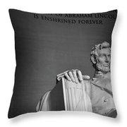 Lincoln Memorial In Washington Dc President Throw Pillow