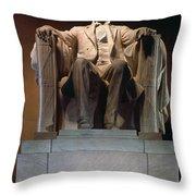 Lincoln Memorial: Statue Throw Pillow