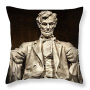 Lincoln Monument Throw Pillow