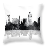 Lincoln Nebraska  Skyline Throw Pillow