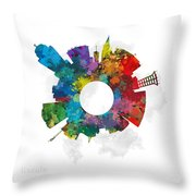 Lincoln Small World Cityscape Skyline Abstract Throw Pillow