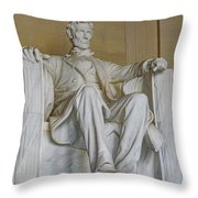 Lincoln Statue Throw Pillow