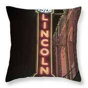 Lincoln Theater Sign Throw Pillow