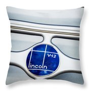Lincoln V12 Emblem Throw Pillow