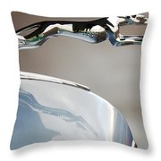 Lincoln V12 Hood Ornament Throw Pillow