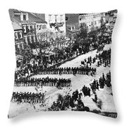 Lincolns Funeral Procession, 1865 Throw Pillow by Photo Researchers, Inc.
