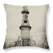 Lincolns Gettysburg Address Site - Toned Throw Pillow