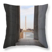 Lincoln's View Throw Pillow