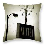 Lincolnwood Motel District Throw Pillow