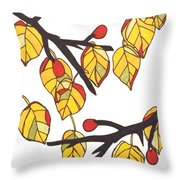 Linden Leaves Throw Pillow