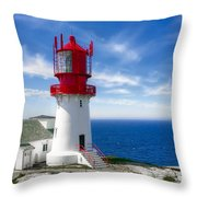 Lindesnes Lighthouse - Norway's Oldest Throw Pillow