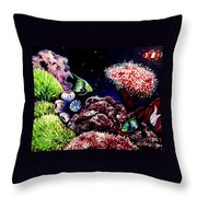 Lindsay's Aquarium Throw Pillow