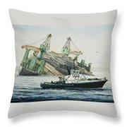 Lindsey Foss Barge Assist Throw Pillow