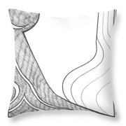 Line And Tone Throw Pillow