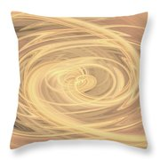 Line Art In Gold And Yellow Throw Pillow