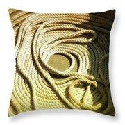 Line Coil Throw Pillow