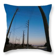 Line Drive Throw Pillow