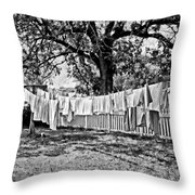 Line Drying - Laundry Throw Pillow