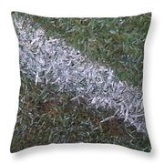 Line In The Grass Throw Pillow