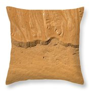 Line In The Sand Throw Pillow