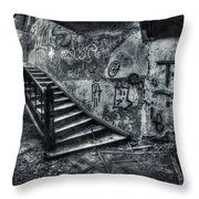 Line Of Descent Throw Pillow
