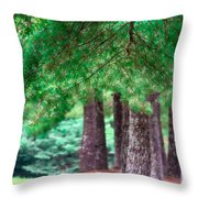 Line Of Pines Throw Pillow