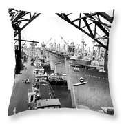 Line Of Victory Ships Throw Pillow